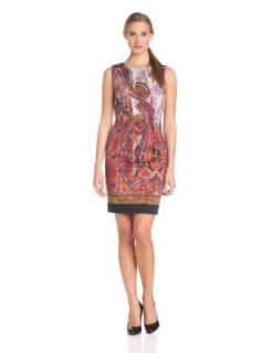Rachel Roy Collection Women's Placed Paisley Printed Dress