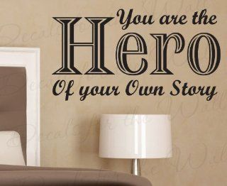 You Are the Hero of Your Own Story   Inspirational Motivational Inspiring Kids   Wall Decal Saying, Adhesive Vinyl Lettering, Decoration Quote Design, Sticker Graphic Art Decor   Home Decor Product