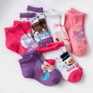 Disney Doc McStuffins 6 pk. 1/4 Crew Socks   Toddler (2T 4T) Casual Socks Clothing