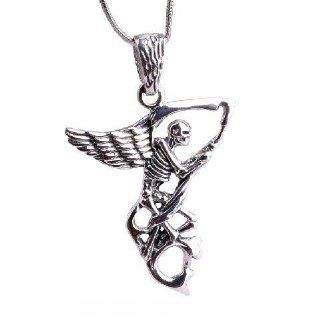 Angel Of Death Necklace Silver Mens Jewelry Guys Fashion (Pendant Only)  Other Products