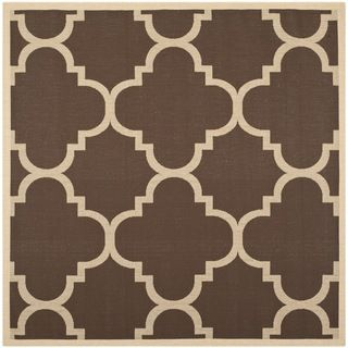 Safavieh Indoor/ Outdoor Courtyard Dark Brown Rug (6'7 Square) Safavieh Round/Oval/Square
