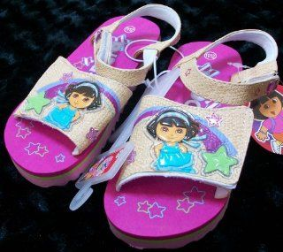 Nick Jr Dora the Explorer Kid Size 11 12 Shoes/sandles, Great for Halloween Costume Toys & Games
