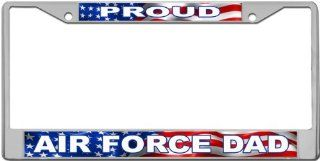 Proud   Airforce Dad Custom License Plate METAL Frame from Redeye Laserworks Automotive