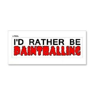 I'd Rather Be Paintballing   Window Bumper Laptop Sticker Automotive