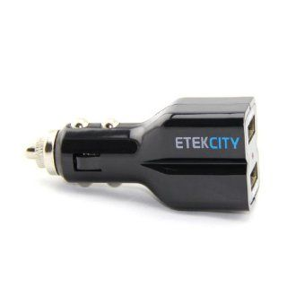 Etekcity� MK347 15W/5V/3A Dual USB High Output Universal Ports Car Vehicle Charger, ANON 2px, IC chip for Over heated Protection, Full Speed Charges to Apple iPads, iPhones, iPods, Tablets, Android Devices, Cell Phones, and Other Rechargeable Electronic De