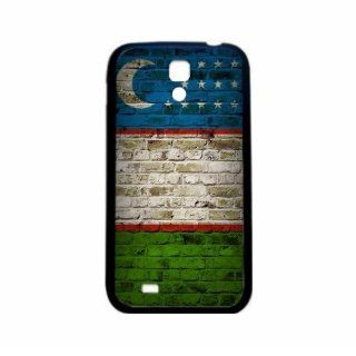 Uzbekistan Brick Wall Flag Samsung Galaxy S4 Black Silcone Case   Provides Great Protection Cell Phones & Accessories