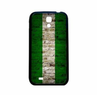 Nigeria Brick Wall Flag Samsung Galaxy S4 Black Silcone Case   Provides Great Protection Cell Phones & Accessories