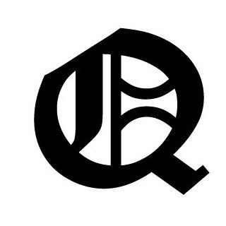 Old English Lettering Letter Q White Decal Automotive