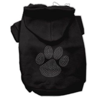 Dog Supplies Clear Rhinestone Paw Hoodies Black Xxxl(20)  Pet Hoodies
