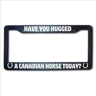 Have You Hugged A CANADIAN Horse Today License Plate Frame Automotive