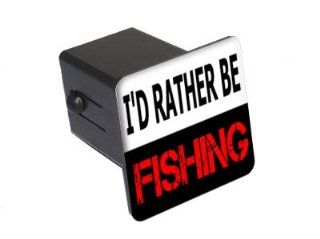 "I'd Rather Be Fishing   2"" Tow Trailer Hitch Cover Plug Insert Automotive"