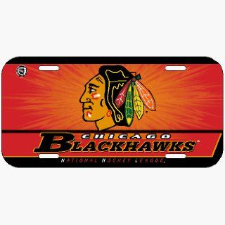 Chicago Blackhawks License Plate  Sports Related Mugs  Sports & Outdoors