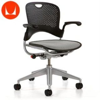 Herman Miller Caper XR Black W/Silver Frame Multipurpose Chair   Adjustable Home Desk Chairs