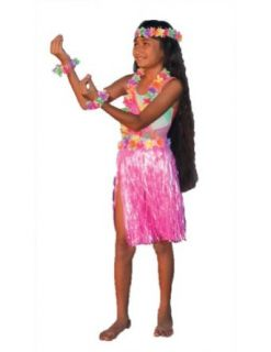 Aloha Set Pink Child Teen Kids Girls Costume   Funny Fashions Clothing