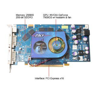 PNY Nvidia GeForce 7900 GS 256MB GDDR3 PCI Express Graphics Card Electronics