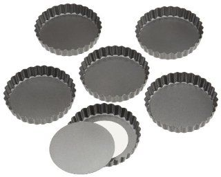 Wilton Perfect Results 4.75 Inch Round Tart/Quiche Pan, Set of 6 Kitchen & Dining