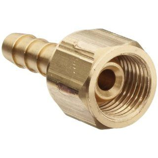 "Dixon OA61 Oxygen Hose Brass Fitting, Coupler, 9/16"" 18 UNF Right Hand Female, 1/4"" Hose ID Barbed"
