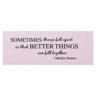 Sometimes things fall apart Marilyn Monroe Quote wall decal wall saying   Wall Decor Stickers