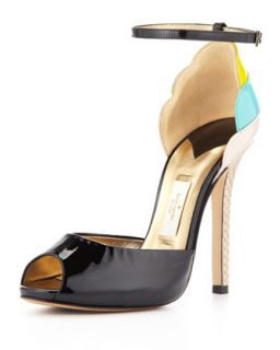 ice cream cone heel sandal, black   kate spade new york   Black (38.0B/8.0B)