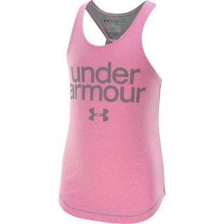 UNDER ARMOUR Girls Qualifier Tri Blend Tank Top   Size Small, Chaos/steel