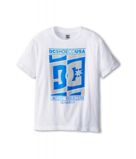 DC Kids Crossing Tee Boys Short Sleeve Pullover (White)