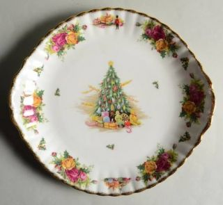 Royal Albert Christmas Magic Handled Cake Plate, Fine China Dinnerware   Christm