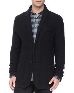Mens Shawl Collar Jacket, Black   John Varvatos Star USA   Black (LARGE)