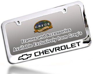 Chevrolet Chevy License Plate Frame, Chrome Brass Automotive