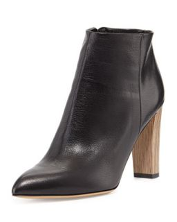 nita leather ankle boot, black   kate spade new york   Black (38.0B/8.0B)