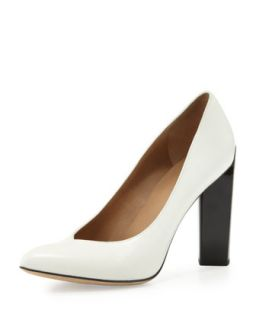 Calfskin Point Toe Pump, Off White/Black   MARC by Marc Jacobs   Off