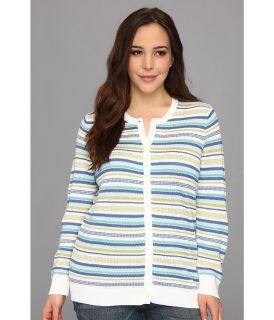 Pendleton Plus Size Multi Stripe Cardigan Womens Sweater (Multi)