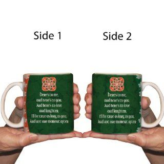 "15 oz Irish Saying Coffee Mug ""Here's to me, and here's to you""   Great for St. Patrick's Day Kitchen & Dining"
