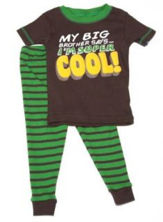 Carter's 2 Piece Pajama Set  My Big Brother saysI'm Super Cool (18 Month) Clothing