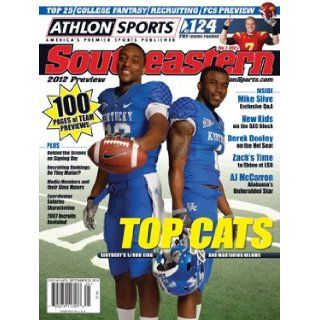 Athlon Sports 2012 College Football Southeastern (SEC) Preview Magazine  Kentucky Wildcats Cover Athlon Sports Books