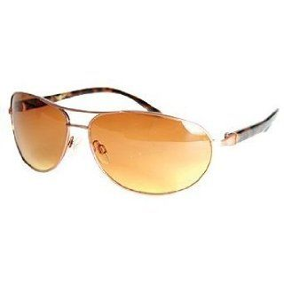 As Seen On TV Aviator Style High Definition Sunglasses   Bronze Frame Clothing
