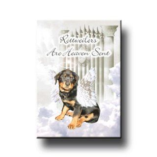 Rottweiler Heaven Sent Fridge Magnet No 1  Refrigerator Magnets