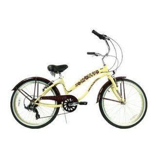"Ladies 24"" Seven Speed Beach Cruiser Bike  Childrens Bicycles  Sports & Outdoors"