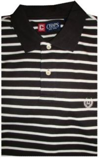 Men's Chaps by Ralph Lauren Polo Shirt Short Sleeved Black/white Available in Several Sizes & Colors (Medium) at  Men's Clothing store