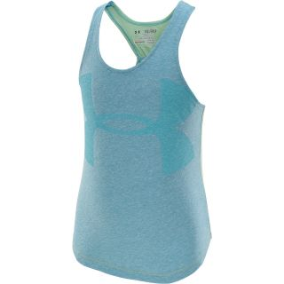 UNDER ARMOUR Girls Qualifier Tri Blend Tank Top   Size XS/Extra Small, Teal