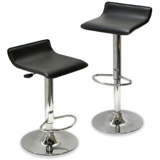 Winsome 25.2 Inch Adjustable Air Lift Counter Stool   Set of 2   Bar Stools
