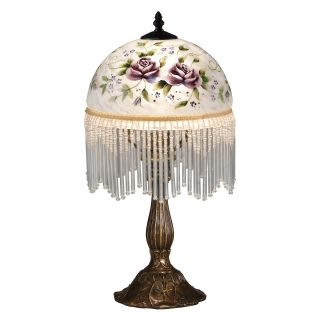 Dale Tiffany Rose Beaded Table Lamp   Tiffany Lamps