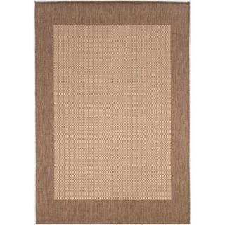 Couristan Recife Checkered Field Rug, Natural/Cocoa