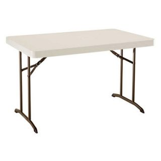 Lifetime 4 Commercial Grade Folding Table, Almond