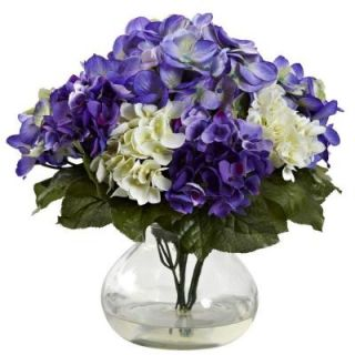 Nearly Natural Mixed Hydrangea with Vase 1364 BP