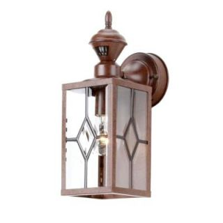 Hampton Bay Bayside Mission 150 Degree Outdoor Bronze Motion Sensing Lantern SL 4151 BR4