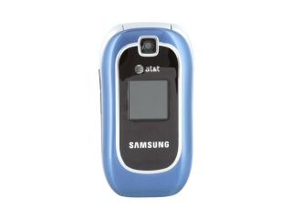 Samsung SGH A237 blue unlocked GSM flip phone with 5 hour talk time