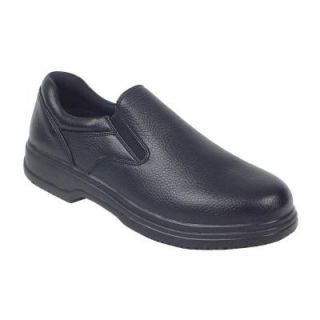 Deer Stags Manager Black Size 10.5 Wide Plain Toe Utility Slip on Shoe for Men MNGR VEGA BLK 105W