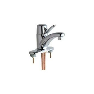 Chicago Faucets 2200 4E39VPAB Lavatory ECast Faucet Single Handle ;Polished Chrome