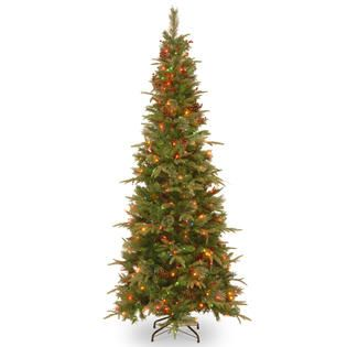 National Tree Company 7Ft Feel Real Colonial Spruce Slim Hinged Tree