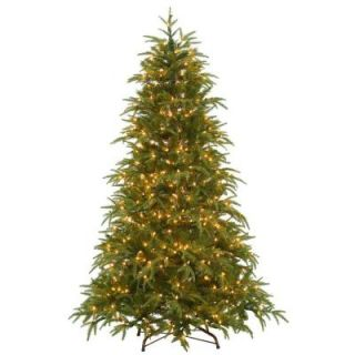 National Tree Company 6.5 ft. Feel Real North Frasier Artificial Christmas Tree with Lights PENO4 300EP 65X
